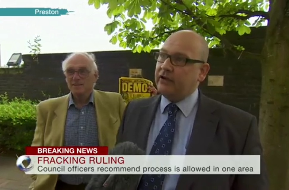 Lee Petts at Remsol speaks to the BBC outside County Hall in Lancashire