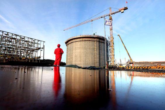 Ineos shale gas tank Grangemouth
